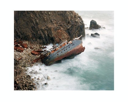 (CreativeWork) Shipwreck from the 'Belly of the Whale', 2008 by Robin Friend. photograph. Shop online at Bluethumb.
