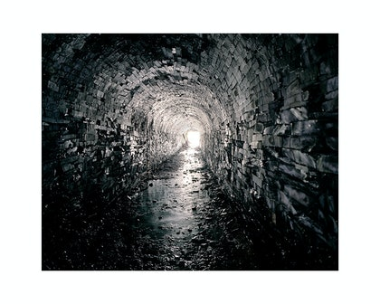 (CreativeWork) Tunnel from the 'Belly of the Whale', 2009 by Robin Friend. photograph. Shop online at Bluethumb.