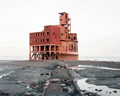 (CreativeWork) Grain Tower Battery, the Thames, Bastard Countryside, 2016 by Robin Friend. photograph. Shop online at Bluethumb.