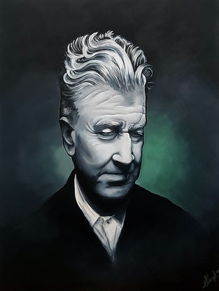 (CreativeWork) The Master: David Lynch by Stephanie Brook. Acrylic Paint. Shop online at Bluethumb.