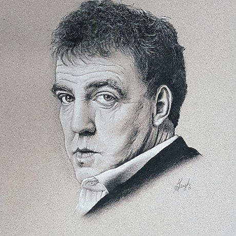 (CreativeWork) Jeremy Clarkson by Stephanie Brook. Other Media. Shop online at Bluethumb.