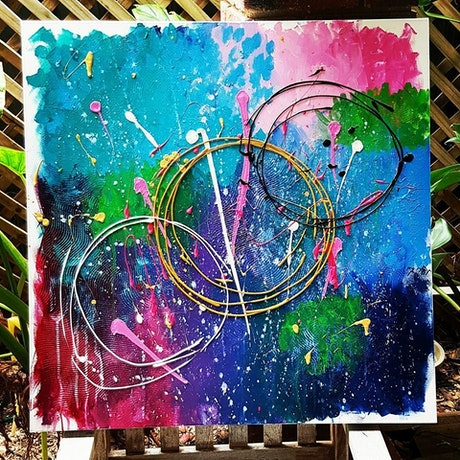 (CreativeWork) This crazy thing called life by Erayshha Marthenis. Acrylic Paint. Shop online at Bluethumb.