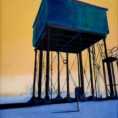 (CreativeWork) Water Tower (part 4)  by Ross Morgan. Acrylic Paint. Shop online at Bluethumb.