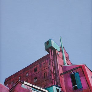 (CreativeWork) Hart's Mill by Ross Morgan. arcylic-painting. Shop online at Bluethumb.