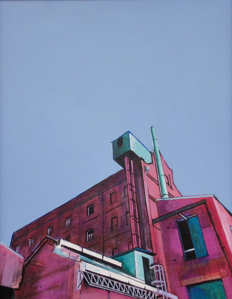 (CreativeWork) Hart's Mill by Ross Morgan. Acrylic Paint. Shop online at Bluethumb.