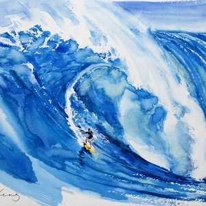 (CreativeWork) Big Wave2 by Soo Beng Lim. Watercolour Paint. Shop online at Bluethumb.