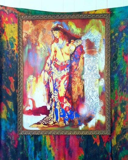 (CreativeWork) Perfume  by Jenny Gil-Vidal. oil-painting. Shop online at Bluethumb.
