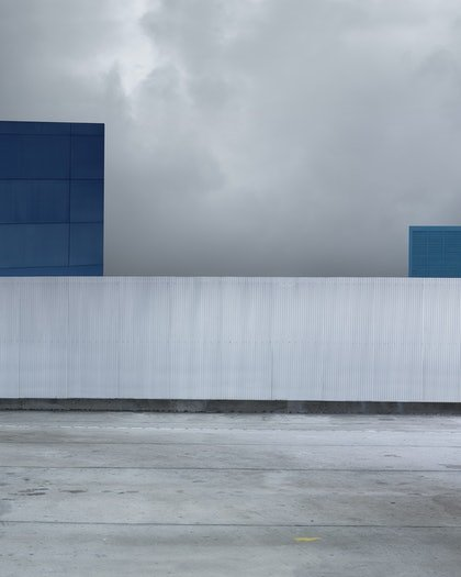 (CreativeWork) Blue Structures by David Manley. photograph. Shop online at Bluethumb.
