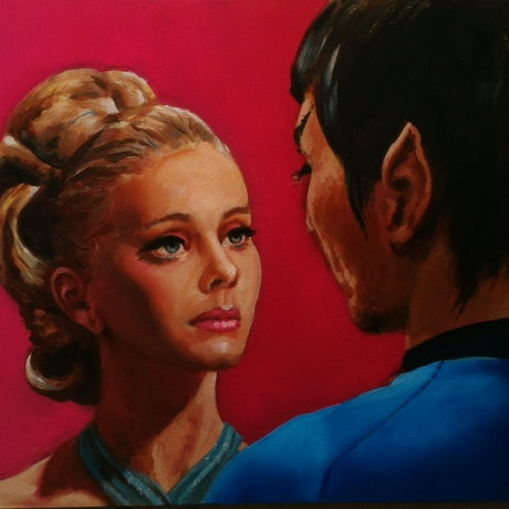 (CreativeWork) xeno-romance by gord anderson. Oil Paint. Shop online at Bluethumb.