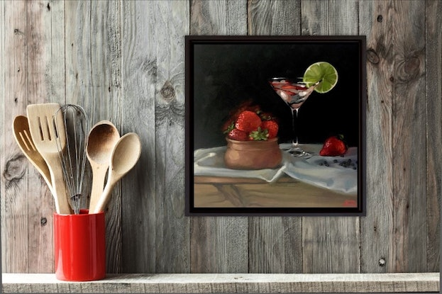 (CreativeWork) G&T Strawberries and Black Pepper by Rosa Fedele. #<Filter:0x00007fa588019098>. Shop online at Bluethumb.