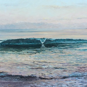 (CreativeWork) SERENITY AT MOLLYMOOK by Margaret HADFIELD. oil-painting. Shop online at Bluethumb.