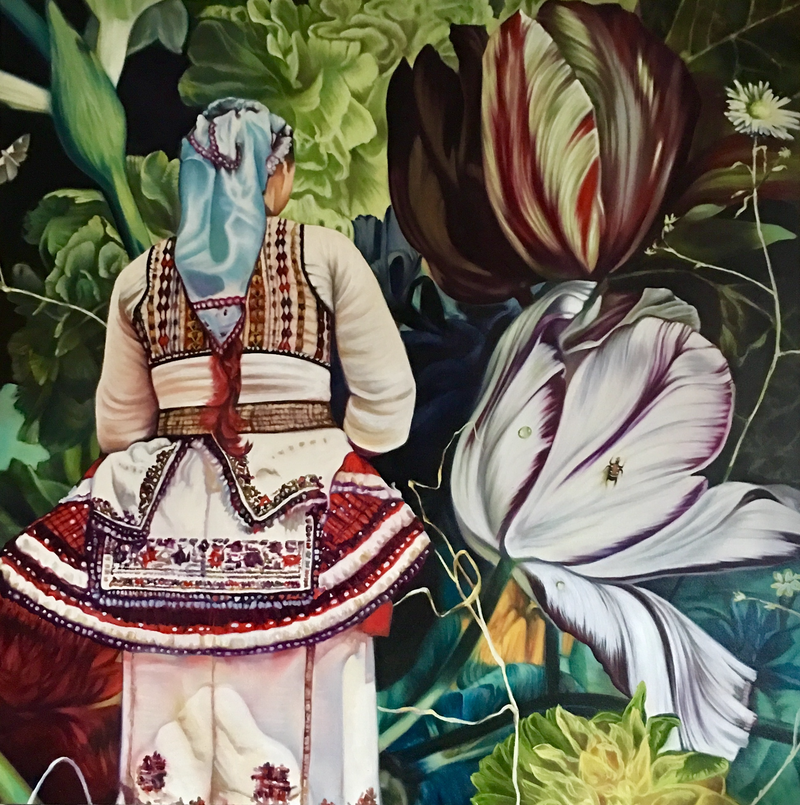 (CreativeWork) Thy Break Thy People by Renata Waterfall. oil-painting. Shop online at Bluethumb.