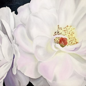 (CreativeWork) Unfurled by Yvonne Hegarty. oil-painting. Shop online at Bluethumb.