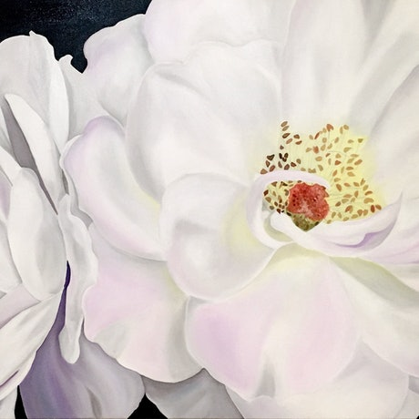 (CreativeWork) Unfurled by Yvonne Hegarty. Oil Paint. Shop online at Bluethumb.