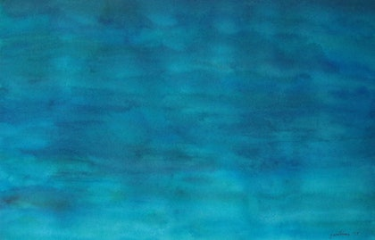 (CreativeWork) Shadows in Still Water 1 by Jazmin Wilkins. watercolour. Shop online at Bluethumb.