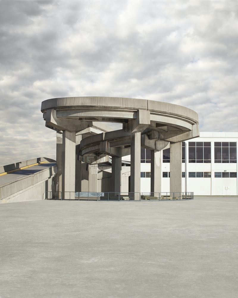 (CreativeWork) Spiral Cement Structure by David Manley. photograph. Shop online at Bluethumb.