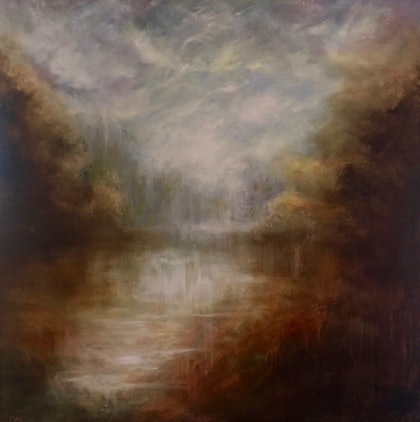 (CreativeWork) The Dawn Reveal by Cathy Yarwood - Mahy. oil-painting. Shop online at Bluethumb.