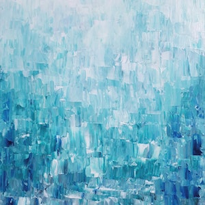 (CreativeWork) 'BOUNDLESS BLUE' by Simone Melville. arcylic-painting. Shop online at Bluethumb.