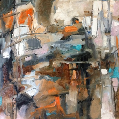 (CreativeWork) Traffic by sue bannister. Oil Paint. Shop online at Bluethumb.
