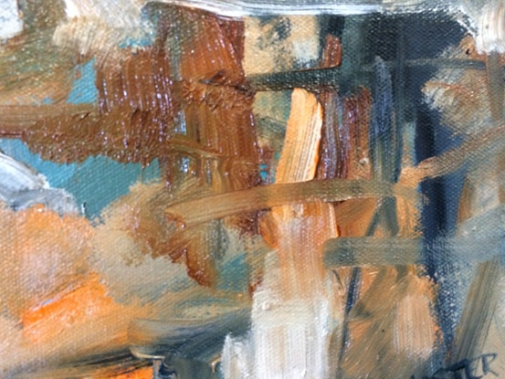 (CreativeWork) Traffic by sue bannister. Oil. Shop online at Bluethumb.