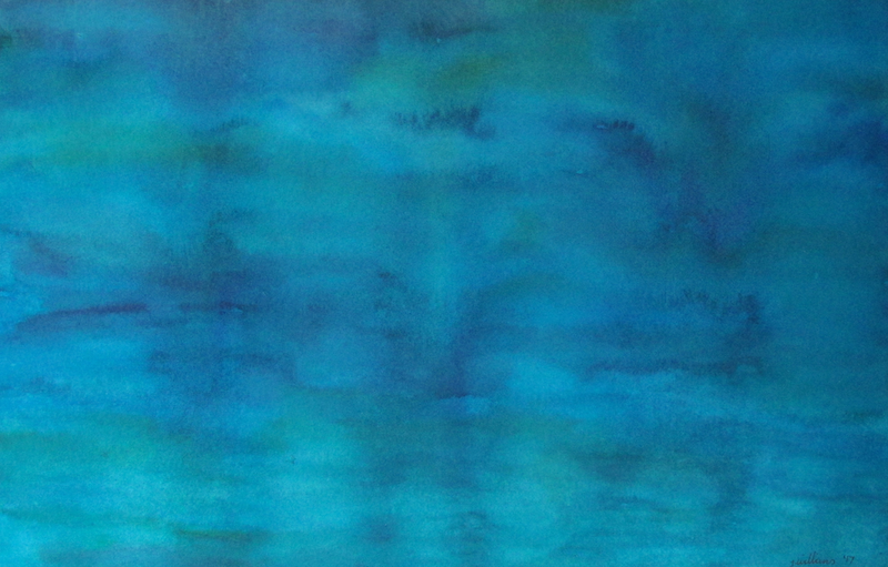 (CreativeWork) Shadows in Still Water 2 by Jazmin Wilkins. watercolour. Shop online at Bluethumb.