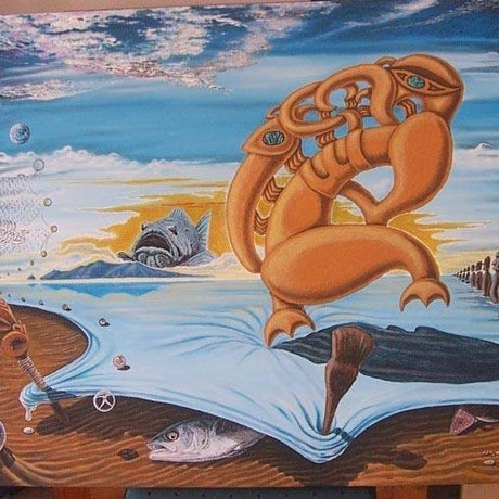 """(CreativeWork) """"We are Guardians of our Mother Earth"""" by nui hamon. Acrylic Paint. Shop online at Bluethumb."""