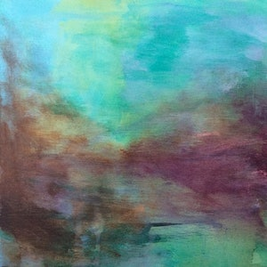 (CreativeWork) New day by Gabbi Lancaster. arcylic-painting. Shop online at Bluethumb.