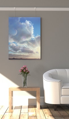 (CreativeWork) Cloud Over Sun by David Tracey. Acrylic. Shop online at Bluethumb.