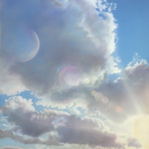 (CreativeWork) Cloud Over Sun by David Tracey. arcylic-painting. Shop online at Bluethumb.