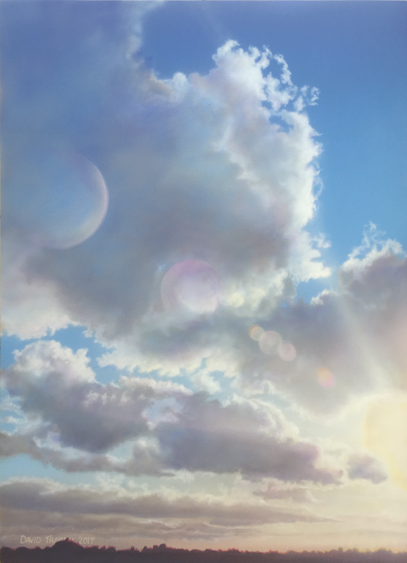 (CreativeWork) Clouds Over Sun by David Tracey. arcylic-painting. Shop online at Bluethumb.