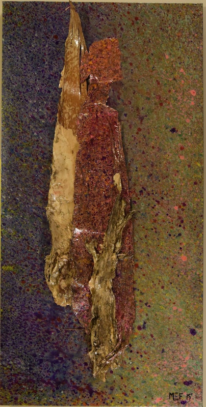 (CreativeWork) Paper Bark by Mary Foster. mixed-media. Shop online at Bluethumb.