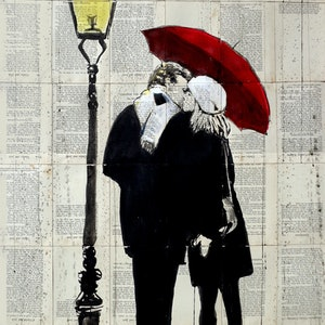 (CreativeWork) LAMP LOVERS by loui jover. drawing. Shop online at Bluethumb.