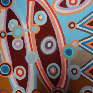 (CreativeWork) SHIELDS OF LOVE 9 by DEREK ERSKINE. arcylic-painting. Shop online at Bluethumb.