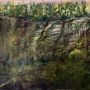 (CreativeWork) Wabi -sabi 侘寂, Longing 76x61x3  by Louise Croese. mixed-media. Shop online at Bluethumb.