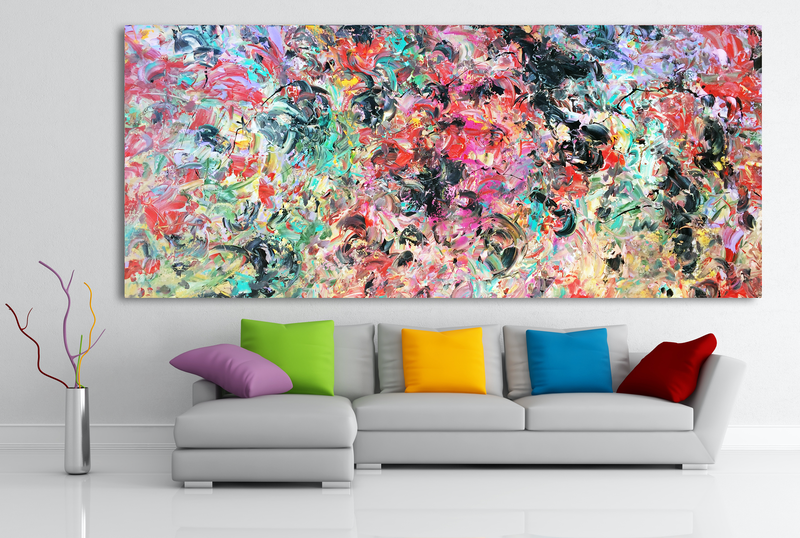 (CreativeWork) Bundled Emotion by Estelle Asmodelle. arcylic-painting. Shop online at Bluethumb.