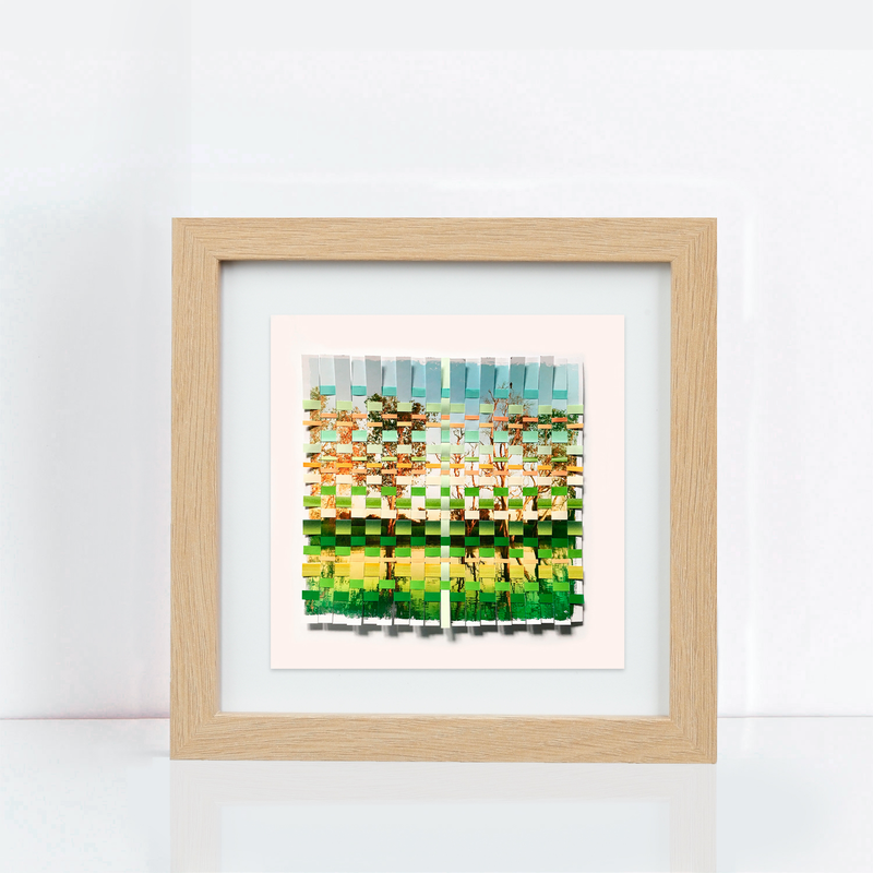 (CreativeWork) Green and gold by Jennifer Bell. mixed-media. Shop online at Bluethumb.