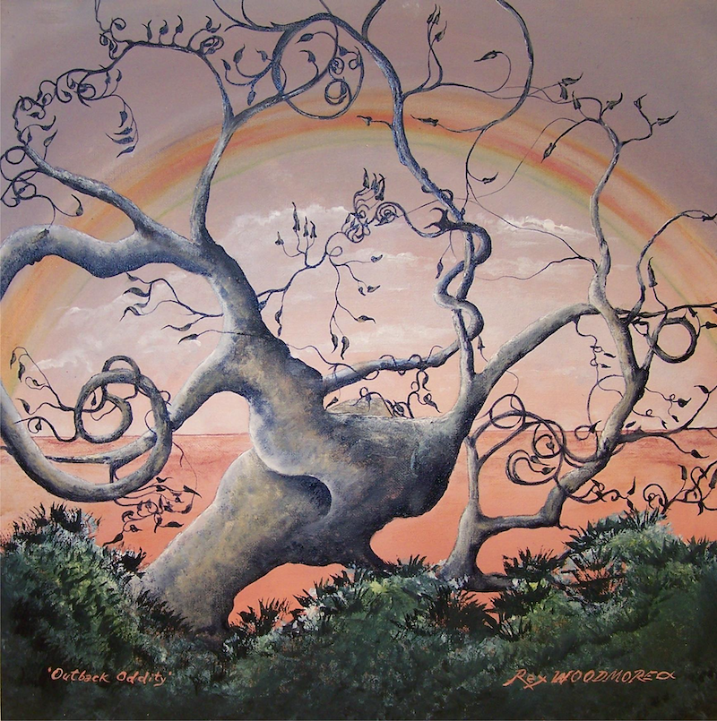 (CreativeWork) Outback Oddity by Rex Woodmore. arcylic-painting. Shop online at Bluethumb.
