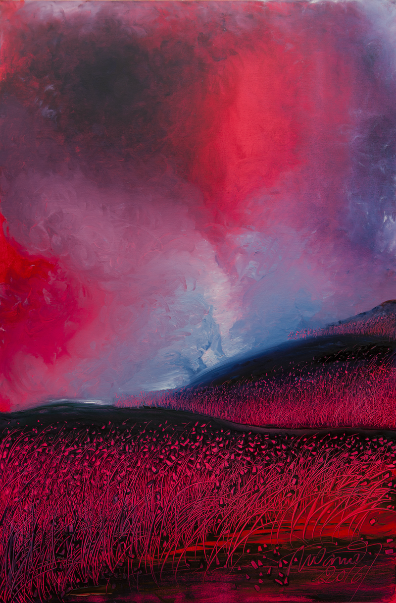(CreativeWork) Twilight by Nelus Oana. oil-painting. Shop online at Bluethumb.
