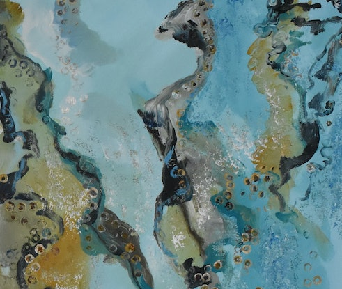 (CreativeWork) On Yabby's Drift by Rodney Cassidy. Acrylic Paint. Shop online at Bluethumb.