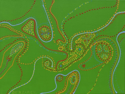 (CreativeWork) Greening  833 by Ernie Gerzabek. arcylic-painting. Shop online at Bluethumb.