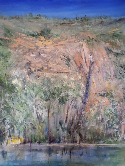 (CreativeWork) The Kimberly from a Creek  by Roger Reading. oil-painting. Shop online at Bluethumb.