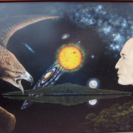 (CreativeWork) Quest for Self by nui hamon. Acrylic Paint. Shop online at Bluethumb.