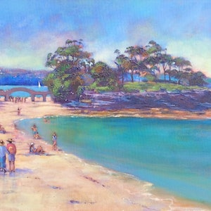 (CreativeWork) Balmoral Beach by Michele Forbes. arcylic-painting. Shop online at Bluethumb.