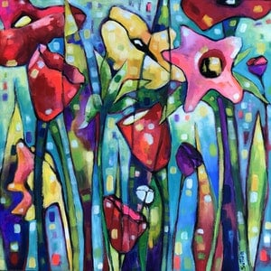 (CreativeWork) Pick Me! by Debra Sutton. arcylic-painting. Shop online at Bluethumb.
