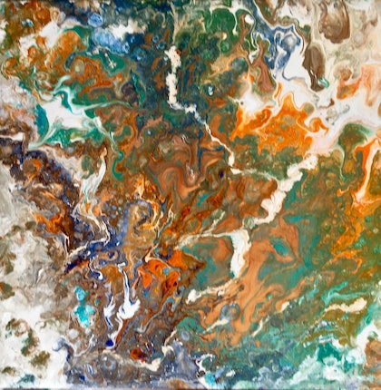 (CreativeWork) Great Barrier Reef II by Elle Gahan. arcylic-painting. Shop online at Bluethumb.