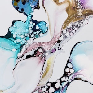 (CreativeWork) #7 Fine Art Print of original fluid acrylic painting Ed. 9 of 10 by Shelee Carruthers. print. Shop online at Bluethumb.
