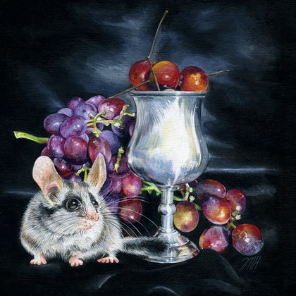 (CreativeWork) It's all about the little things by Melissa Hartley. arcylic-painting. Shop online at Bluethumb.