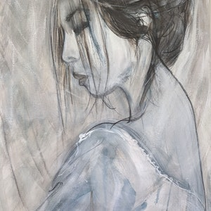 (CreativeWork) SERENITY by Myffie Coady. arcylic-painting. Shop online at Bluethumb.