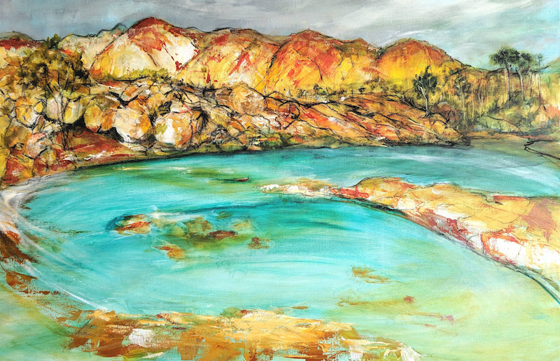 (CreativeWork) COVE by Myffie Coady. arcylic-painting. Shop online at Bluethumb.