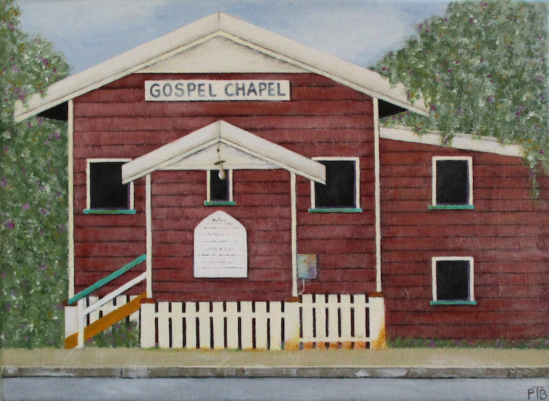 (CreativeWork) Gospel Chapel by Pauline Bailey. arcylic-painting. Shop online at Bluethumb.